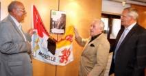 Inauguration de la salle CAMILLE HILAIRE de l'Hôtel du Département à Metz en présence de Claude HASTAIRE-HILAIRE, le 15 juillet 2013