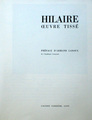 Hilaire, Oeuvre tiss, 1970