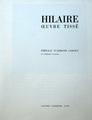 Hilaire, Oeuvre tissé, 1970